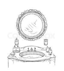 hand mirror sketch. Perfect Mirror Hand Drawn Mirror Sketch Vector To Mirror Sketch E