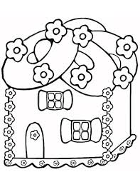 Gingerbread House Coloring Page Free Printable Coloring Pages
