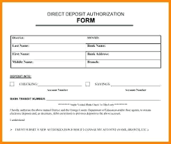 Direct Deposit Authorization Form Amazing Deposit Invoice Direct Template Apply To Change Form Adp