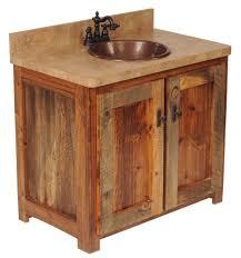 Bathroom Barn Wood Vanities Reclaimed Wood Single Sink Vanity Rustic