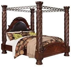 Millennium Bedroom Furniture North Shore Poster Canopy Bedroom Set From Ashley B553 Coleman