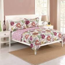 better homes and gardens passion flower bedding quilt full queen multicolor