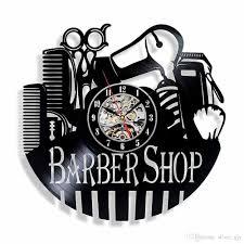 Record Gifts Vinyl Record Wall Clock Gifts Home Decor Barber Shop Hair Salon