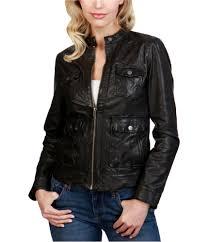 lucky brand womens leather biker jacket 0