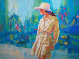 unknown palette knife painting