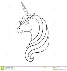 Unicorno Di Fiaba Schizzo Per Il Libro Da Colorare Concetto Di