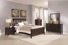 dark bedroom furniture. Bedroom:Bedroom Decor Dark Wood Awesome Bedroom Brown Light Gray Tufted Bed Headboard Furniture