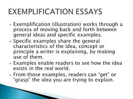 topics for an exemplification essay topics for exemplification exemplification