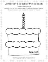 Small Picture Read for the Record Bunny Cakes Coloring Page Printable Kindergarten