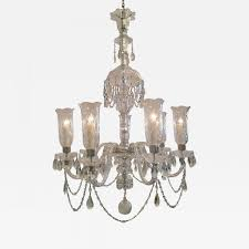 listings furniture lighting chandeliers and pendants early 20th century irish crystal chandelier with hurricane shades