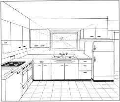 Kitchen Design Sketch Cool Basics Of 48 48 And 48 Point Perspective AKA Parallel And Angular