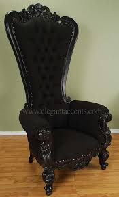 cloth chairs furniture. carved mahogany louis xv beregere armchair regal throne chair black cloth in home u0026 garden furniture chairs