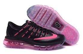 nike running shoes 2016 black. womens nike air max 2016 black pink running shoe shoes
