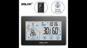 <b>Wireless</b> Indoor Outdoor Thermometer Hygrometer w/ Touch Screen ...