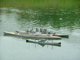 picture of how to build and arm a scale model battleship from scratch