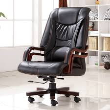 office leather chair. Executive Bonded Leather Office Chair Swivel Legs Wood Modern Luxury Home Furniture Boss Ergonomic Armrests-in Chairs From O