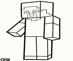 Minecraft Kleurplaat Steve Google Zoeken Mine Craft Related Keywords