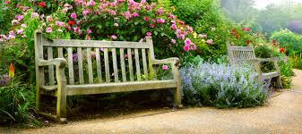simple beautiful garden bench