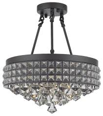 semi flush mount french empire crystal chandelier crystal
