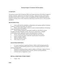 Desktop Support Job Description Resume Choice Image Format