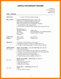 Internshipesume Objective Sample Nanny Template Image Accounting
