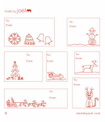Made By Joel » Holiday Gift Tag TemplatesChristmas Gift Tag Design