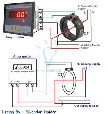 digital ammeter wiring current transformer ct coil ammeter wiring diagram