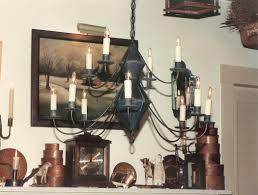 hammerworks colonial antique tin reion chandelier ch201 shown