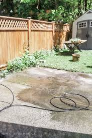 power washing concrete how to paint stripes like an outdoor rug on a concrete slab