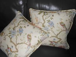 oriental throw pillows. Beautiful Pillows G P U0026 J Baker Throw Pillows ORIENTAL BIRD Printed Linen Birds Floral New  PAIR  Designer Pillows For Oriental A