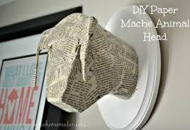 wall decor paper mache animal head decoupage home decor repurposing upcycling on paper mache wall art diy with paper mache animal head wall decor hometalk