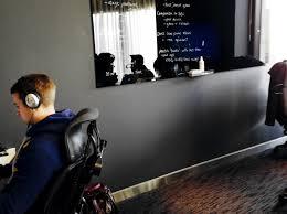 dark grey walls in viewing room