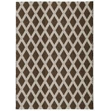 diamond brown beige 8 ft x 10 ft indoor outdoor area rug