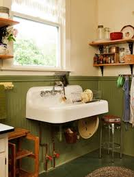 vintage kitchen sink cabinet. A Wall-mounted Sink, Purchased In Barely Used Condition, Replaced The Ruined 1970s Vintage Kitchen Sink Cabinet
