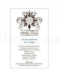Christmas Program Templates Printable Christmas Wedding Program Template