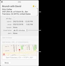 Travel Calendar Add Location And Travel Time To Events In Calendar On Mac Apple