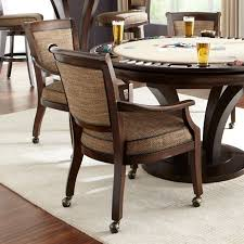 dining room chairs with casters and arms inpretty upholstered dining room chairs with casters