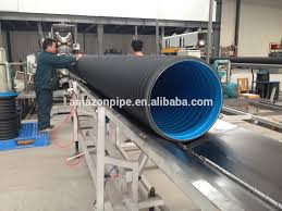 dn600 sn8 dwc drainage pipe hdpe corrugated pipes