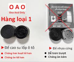 Chống rung máy giặt - 4 miếng cao su 2 tầng - kệ máy giặt - chân đế máy giặt  - chống ồn máy giặt - phụ kiện giặt ủi
