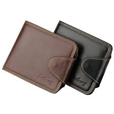 baellerry fashion good leather short men wallets card holder for male package man purses with coin bags