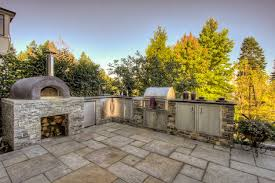 outdoor kitchen pizza oven design. outdoor kitchen \u0026 pizza oven mediterranean-patio design b