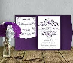 homemade wedding invitation kits photo 4 of 9 silver purple wedding invitation template kit invitation suite