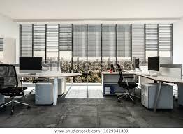 Modern Business Office Multiple Workstations Around Stock Illustration 1029341389
