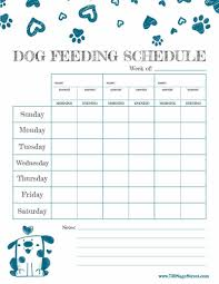 Dog Feeding Chart Free Printable Feeding Schedule To Track Your Dogs Food
