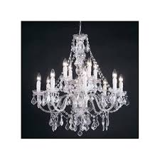 12 light acrylic crystal chandelier in polished chrome finish