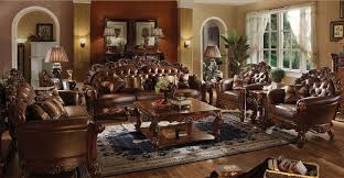 complete living room sets. vendome 6 piece complete living room set in cherry finish by acme - 52000-6 sets e
