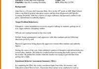 Functional Behavior Assessment Template - Professional Samples Templates