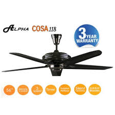 twin pack alpha ceiling fan cosa 118 remote 5 blade pwt