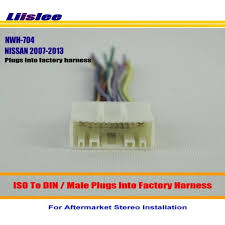 liislee car stereo radio iso wiring harness connector cable for Car Stereo Wiring Harness Adapters at Stereo Mounting Kit And Wiring Harness