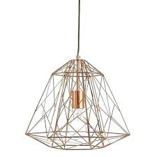 rose gold lamp shade copper lights lamps shades barker extra large ceiling l light nz geometric copper deep pendant green light